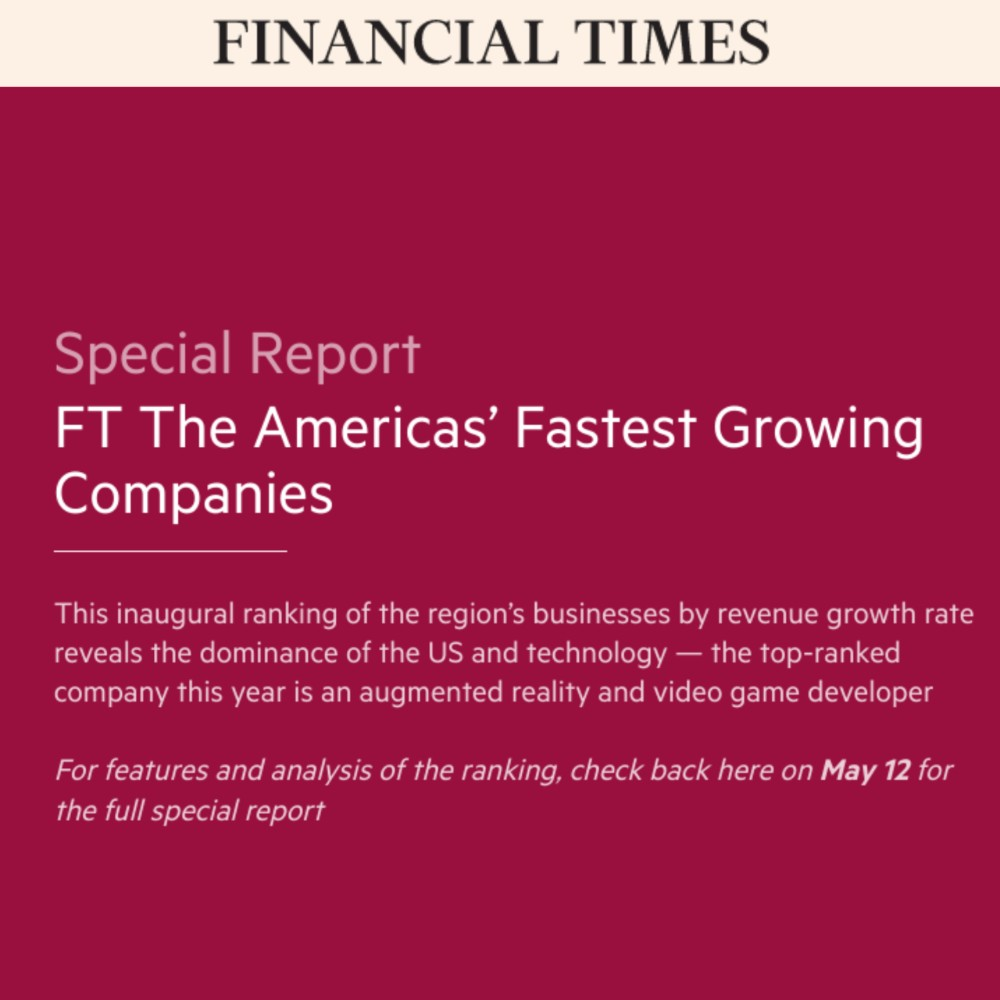 "TRAXXALL Ranks in Financial Times ""Americas' Fastest Growing Companies 2020"""