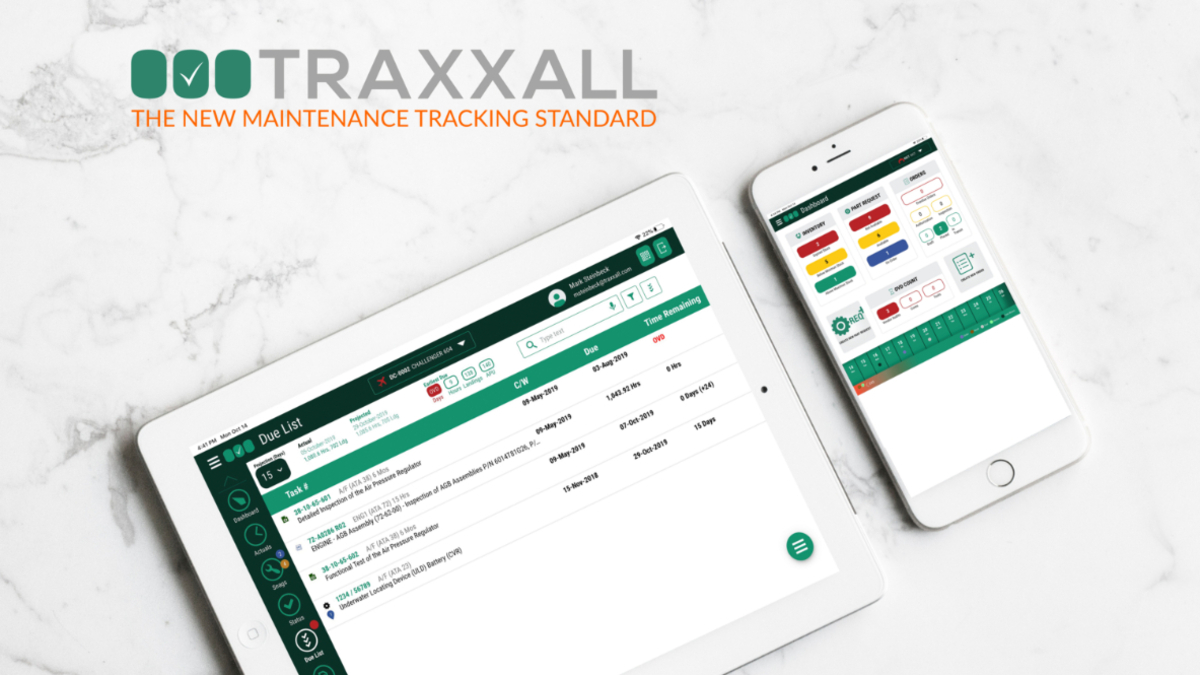 TRAXXALL Introduces 'TRAXXALL 360' – The Next Generation of Business Aircraft Maintenance Tracking
